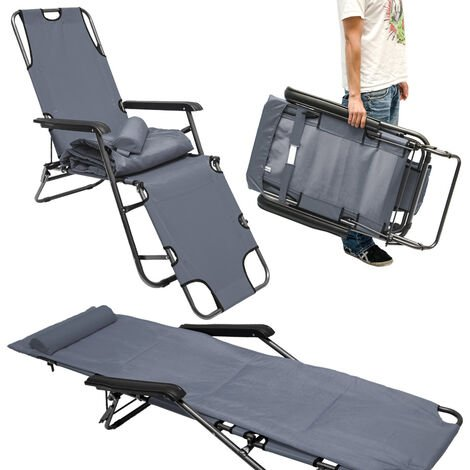 édition Chaise longue Divan de Jardin Transat Chaise de Plage Camping Chaise Longue Chaise 178 CM