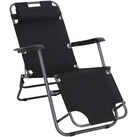 """main image of """"Chaise longue transat 2 en 1 pliant"""""""