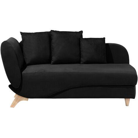 Chaise longue negro izquierdo MERI