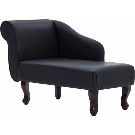 Chaise longue Noir Similicuir