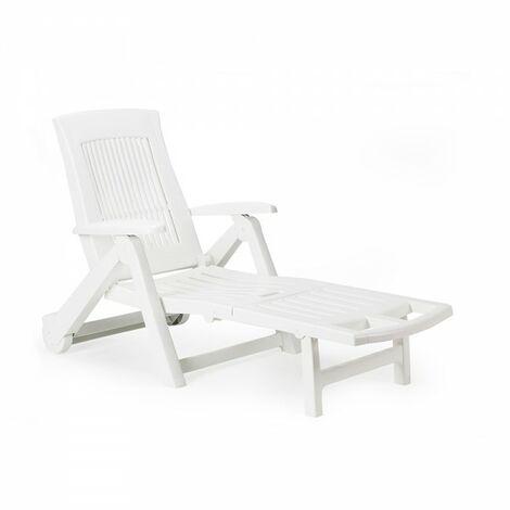 Chaise longue pliable avec roues (usage domestique). ipae pro garden