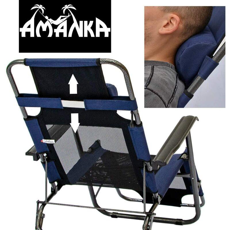 Inclinables bleu acierPoids foncéStructure maxsupporté avec Chaise camping jardinTransat Longue têtecouleur en Pliable et pour repose EIWD2YH9