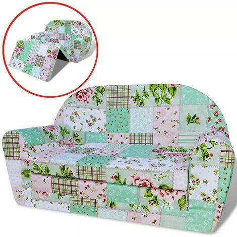 Chaise longue pliable pour enfants motif de fleurs