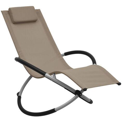 Chaise longue pour enfants Acier Taupe