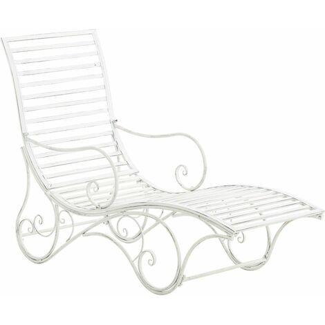 Chaise longue pour jardin amiens en fer forg antique - Chaise en fer forge pour jardin ...