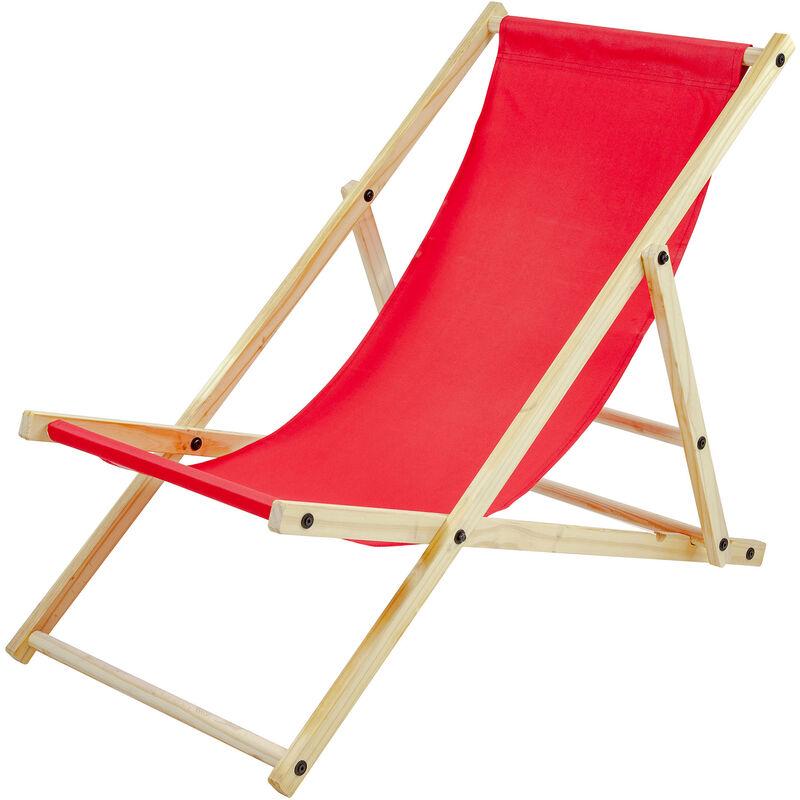 Chaise Longue SUN,rouge