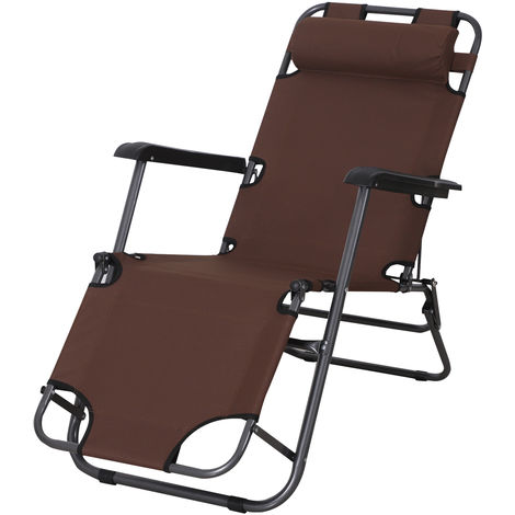 Chaise longue transat 2 en 1 pliant