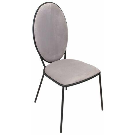 Chaise Louis gris clair - Gris