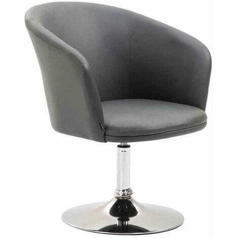 Chaise Lounge Arcade Similicuir avec Piètement en métal aspect chromé
