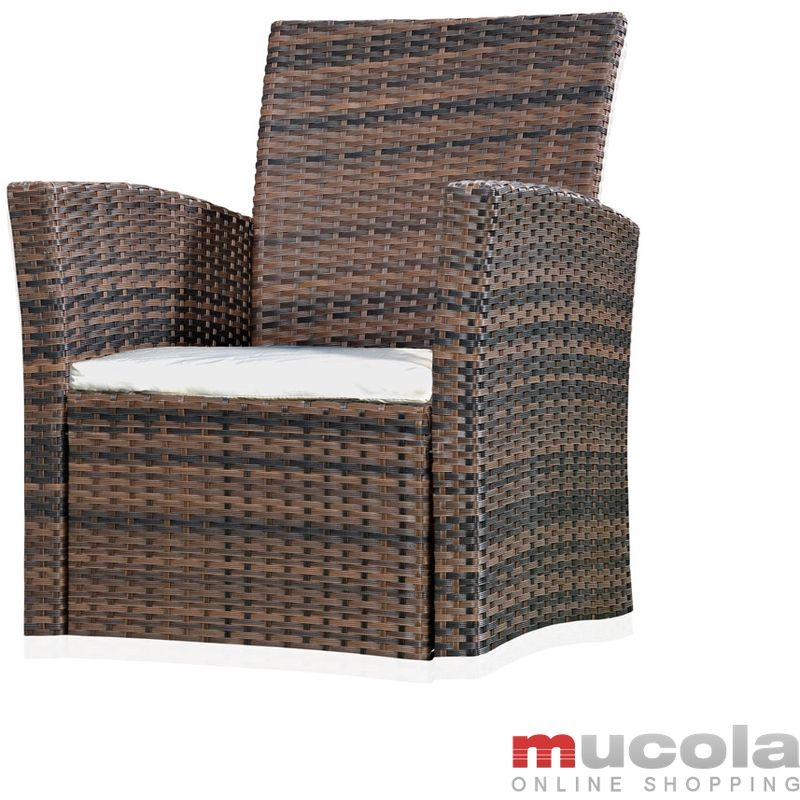Chaise Lounge, chaise poly rotin, jardin, terrasse, chaise, fauteuil, marron