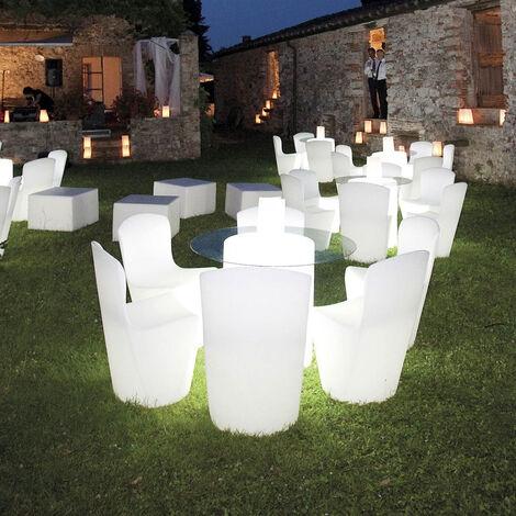 Chaise lumineuse design moderne Slide ZOE RGB pour cuisine bar restaurant et jardin