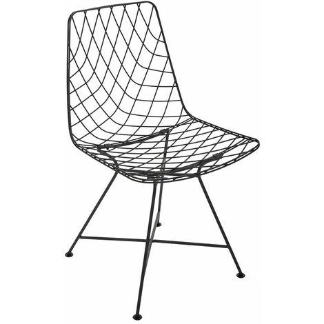 Chaise métal filaire Archi - Noir