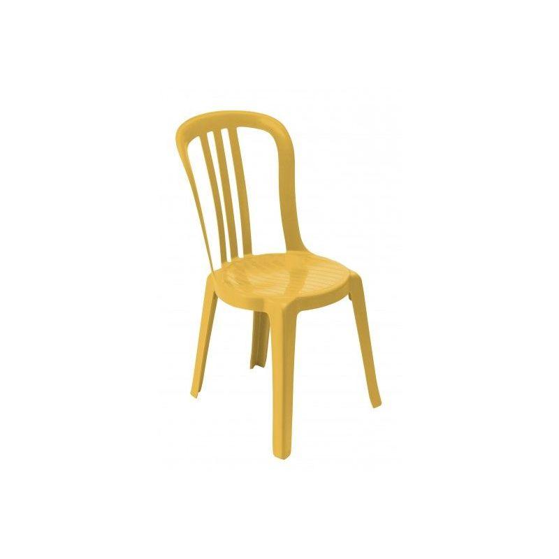 CHAISE MONOBLOC MIAMI BISTROT 44X54X88 coloris jaune indien - jaune indien
