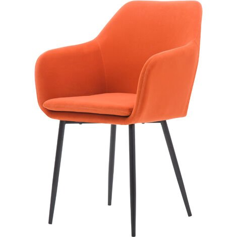 Chaise Naruto en velours corail - Orange