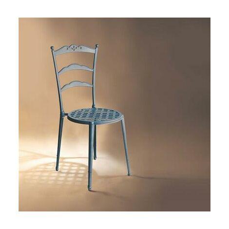 Chaise noire à dessin classique en fonte d'alu massif 41x90x45cm noire
