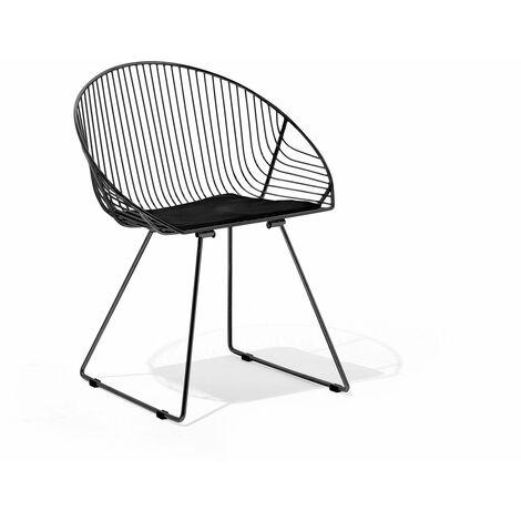Chaise noire AURORA