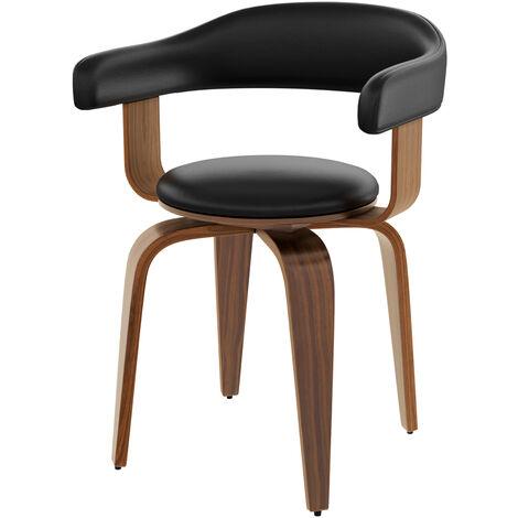 Chaise noire Harold avec accoudoirs - Noir