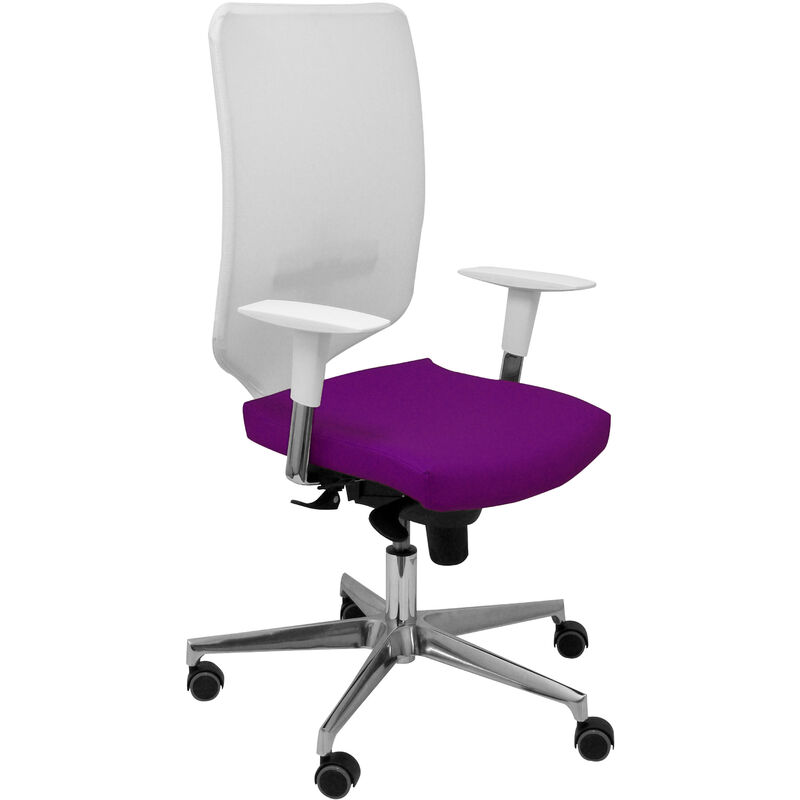 Piqueras Y Crespo - Chaise Ossa blanc faux cuir violet