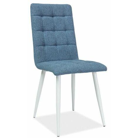 Chaise - Otto - L 44 cm x l 39 cm x H 94 cm - Bleu - Livraison gratuite