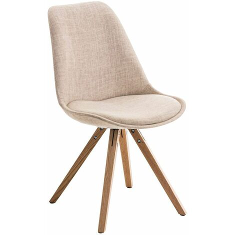 """main image of """"Chaise Pegleg tissu forme carrée noix"""""""