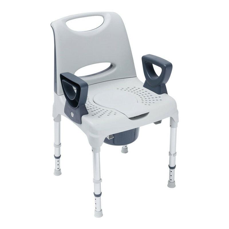 Chaise percée de douche Pico Commode Invacare 42 à 57,5 cm Blanc