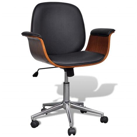 Chaise pivotante avec accoudoir En cuir artificiel Reglable