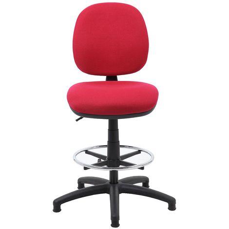 Chaise pivotante de bureau, grand confort, carmin