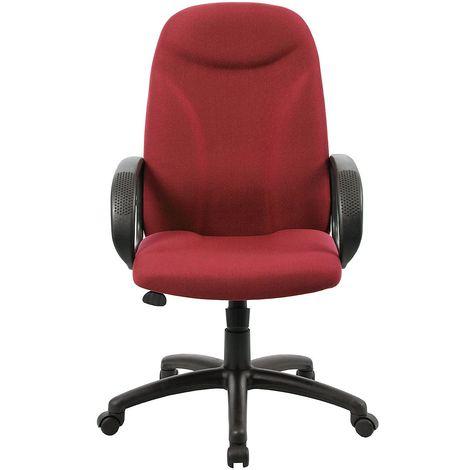 Chaise pivotante de bureau Perth - avec accoudoirs, carmin