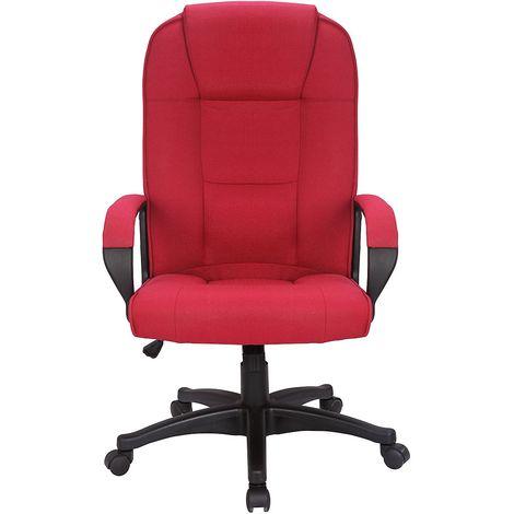 Chaise pivotante de bureau Siento - rembourrée, accoudoirs, carmin