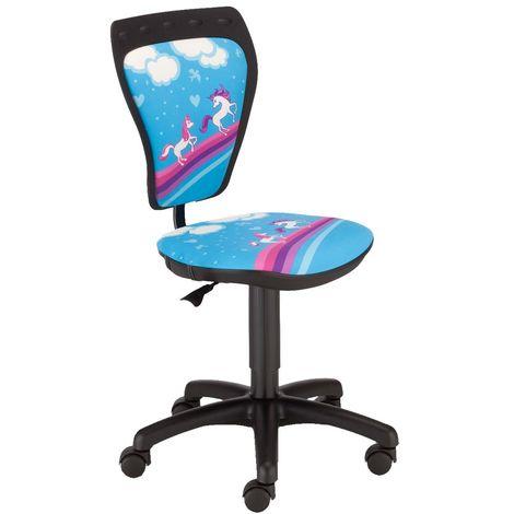Chaise pivotante siège pour chambre enfants filles Ministyle TS22 RTS chevaux