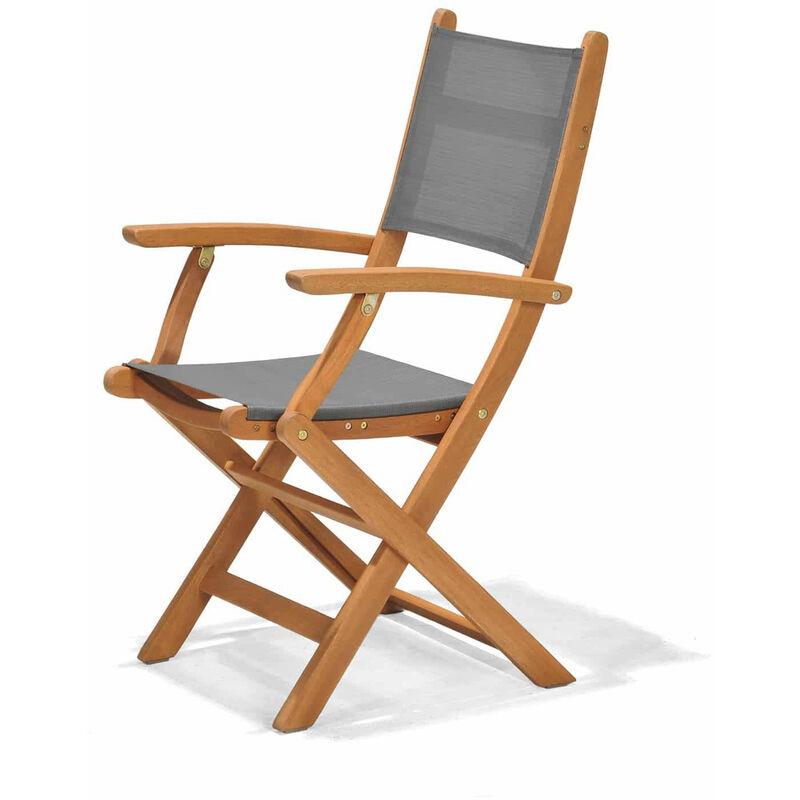 Chaise de Jardin Pliante Bois 60,65x54x93,20 cm - chillvert