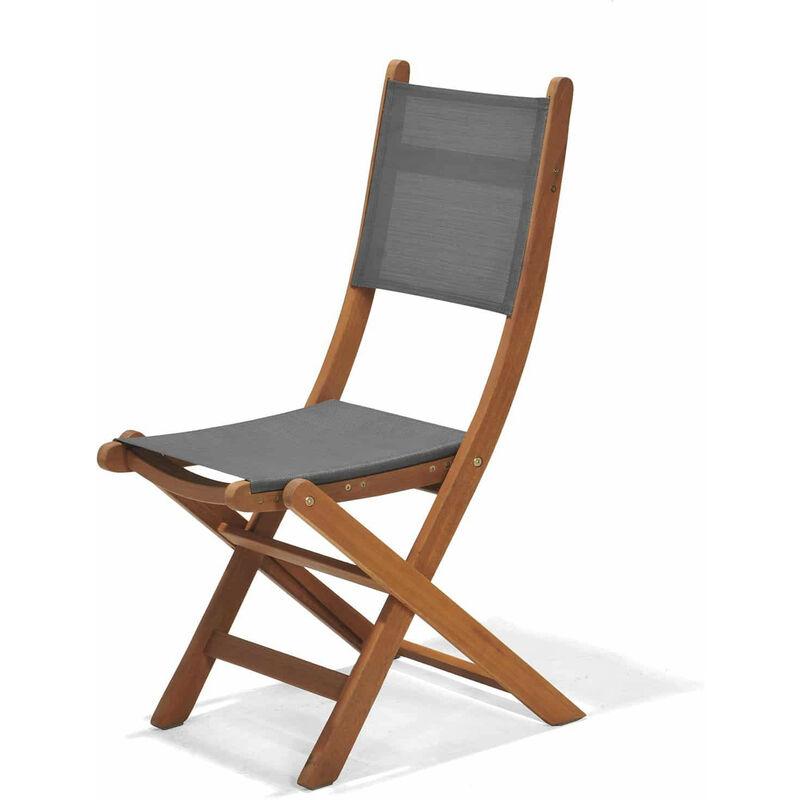Chaise de Jardin Pliante Bois 50,65x49,60x93,20 cm - chillvert