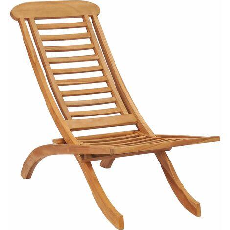 Chaise pliable de jardin Bois de teck solide