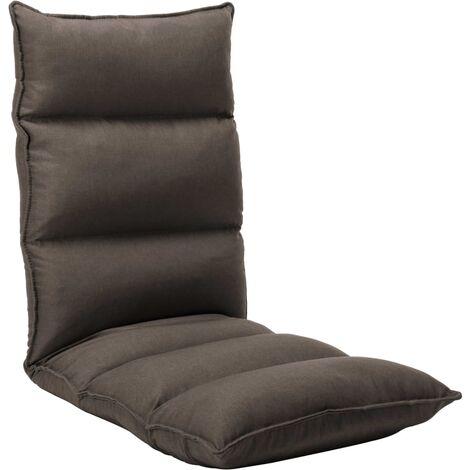 Chaise Pliable de Sol Noir Tissu