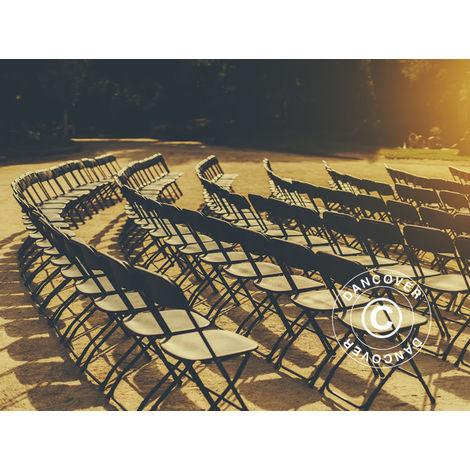 Chaise pliante 44x44x80cm, Noir, 24 pièces