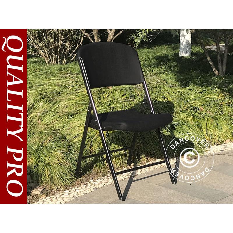 Chaise pliante 48x43x89cm, Noir, 24 pièces