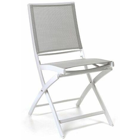 Chaise pliante alu et textilène Cassini