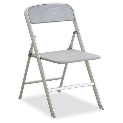 Chaise pliante ALU grise - gris