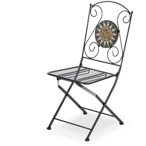 En Avec Chaise 06409 Pliante Mosaïque Structure Fer w0ZN8nOPkX