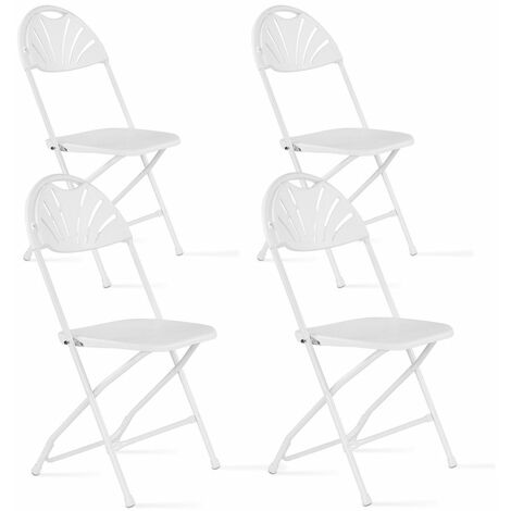 Chaise pliante blanche confortable Lot de 4
