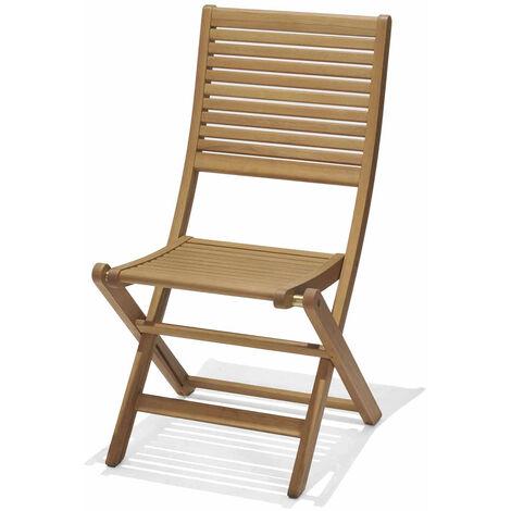 Chaise Pliante de Jardin Chillvert Bois 58x49x93 cm