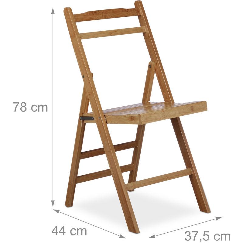 Chaise pliante en bambou chaise de jardin en bois pliable chaise en ...