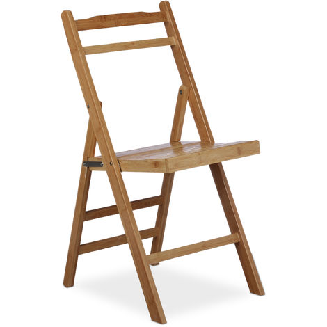 Chaise pliante en bambou chaise de jardin en bois pliable ...