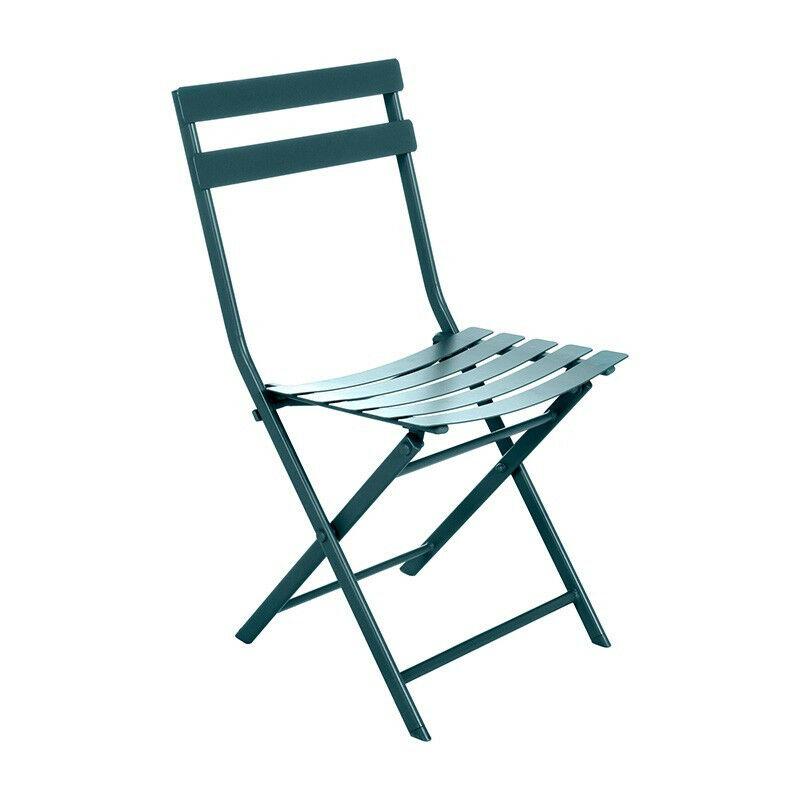 Chaise extérieure Greensboro Hespéride bleu canard - Bleu canard