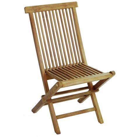 Chaise pliante Lia en bois teck | Bois