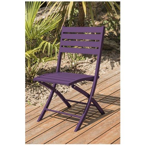 chaise pliante marius alu- aubergine