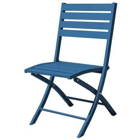 chaise pliante marius alu - bleu