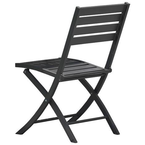 chaise pliante marius alu - gris anthracite