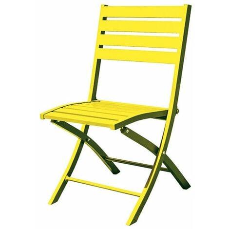 Chaise pliante marius alu - jaune