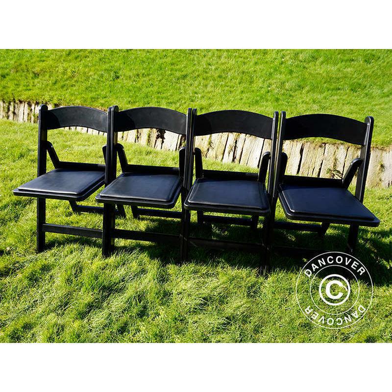 Chaise pliante Noir 44x46x77cm, 24 pièces